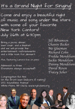 cantor summer concert flyer
