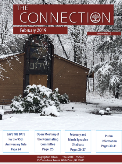Congregation Kol Ami February Newsletter