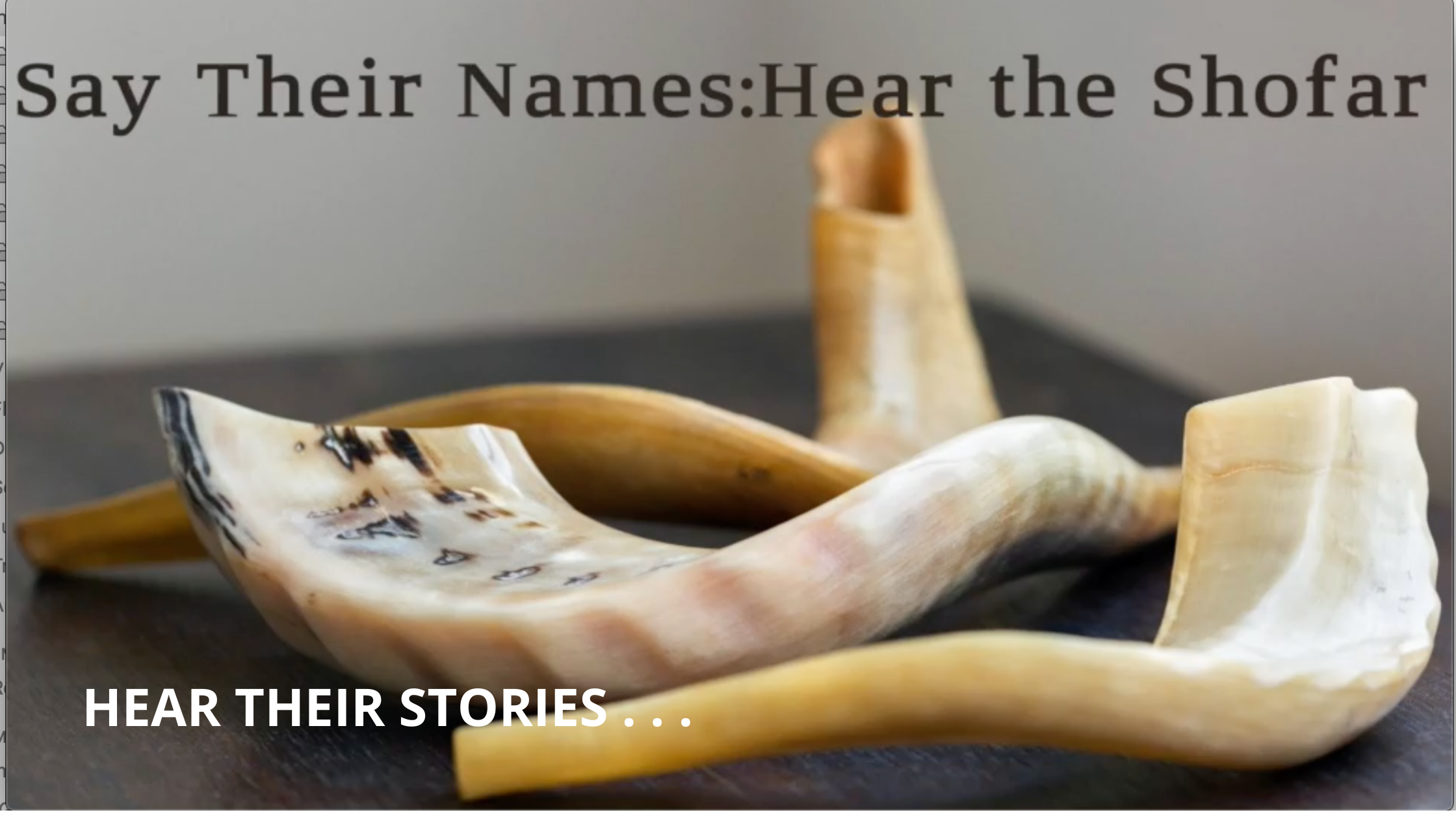 #SayTheirName:HearTheShofar