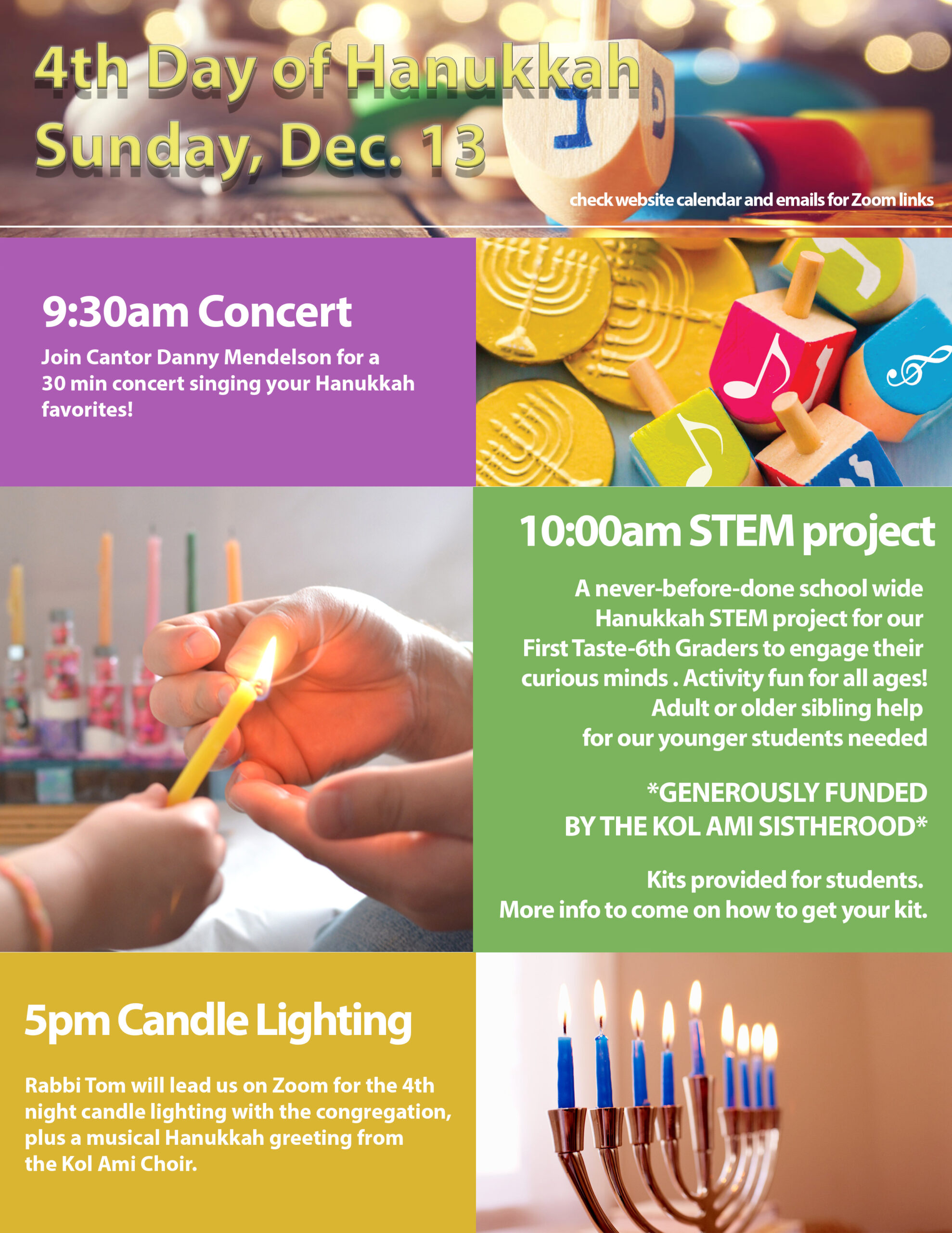 4th night of hanukkah flyer