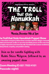 Hanukkah puppet show flyer revised