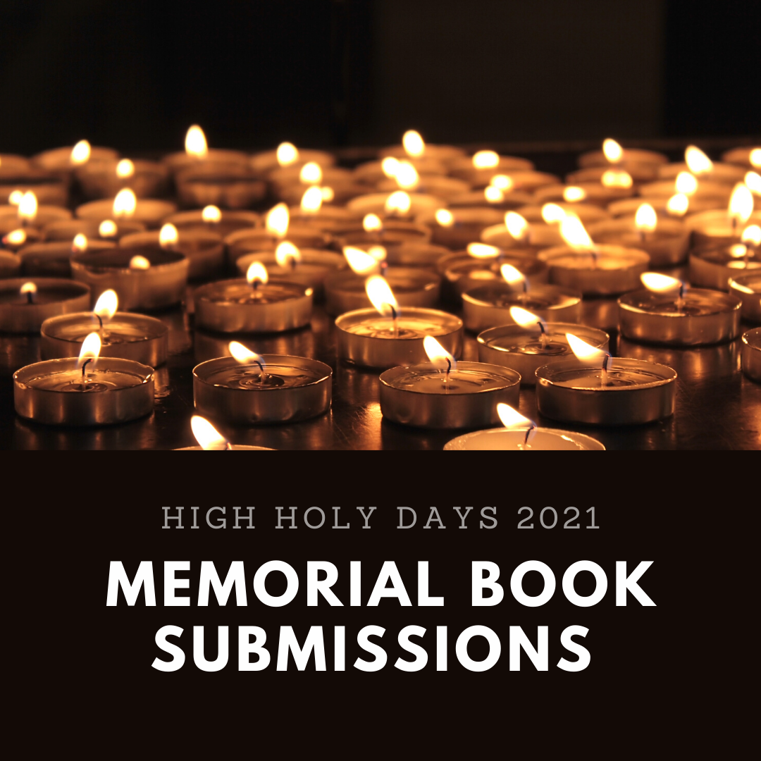 Memorial Book Submissions Congregation Kol Ami