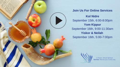 Yom Kippur Times Congregation Kol Ami